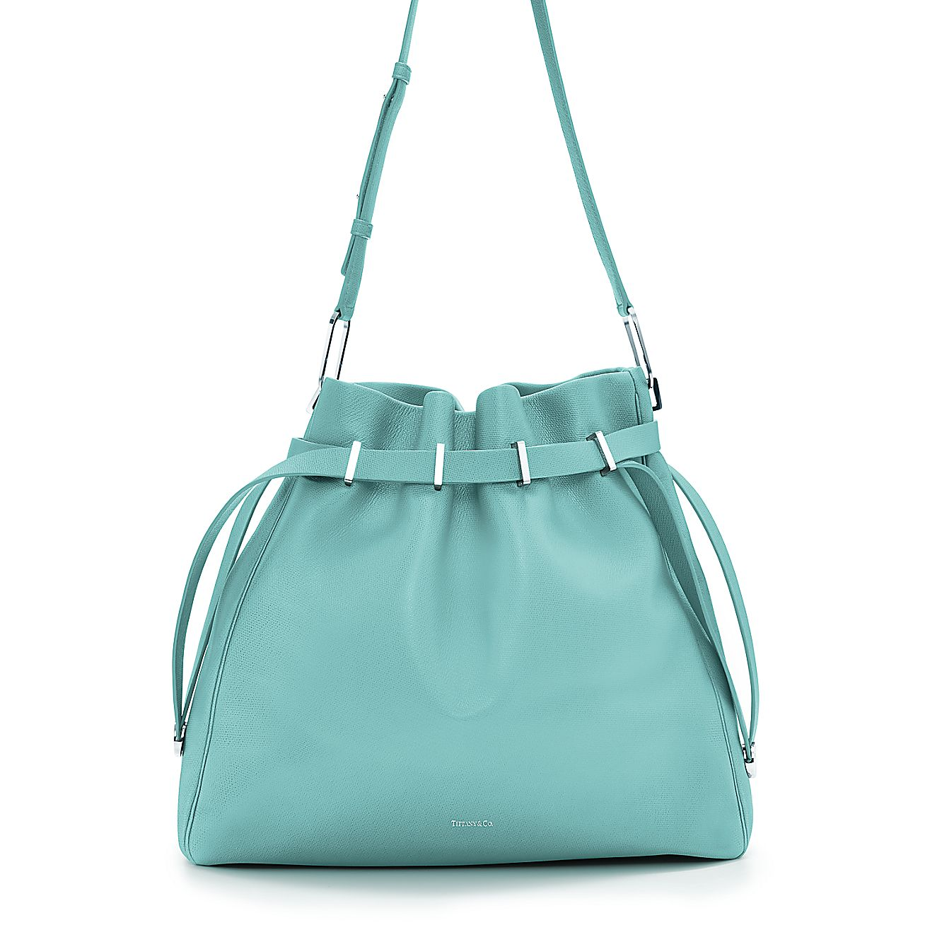 Blair Shoulder Bag In Light Teal Textured Leather More Colors Available