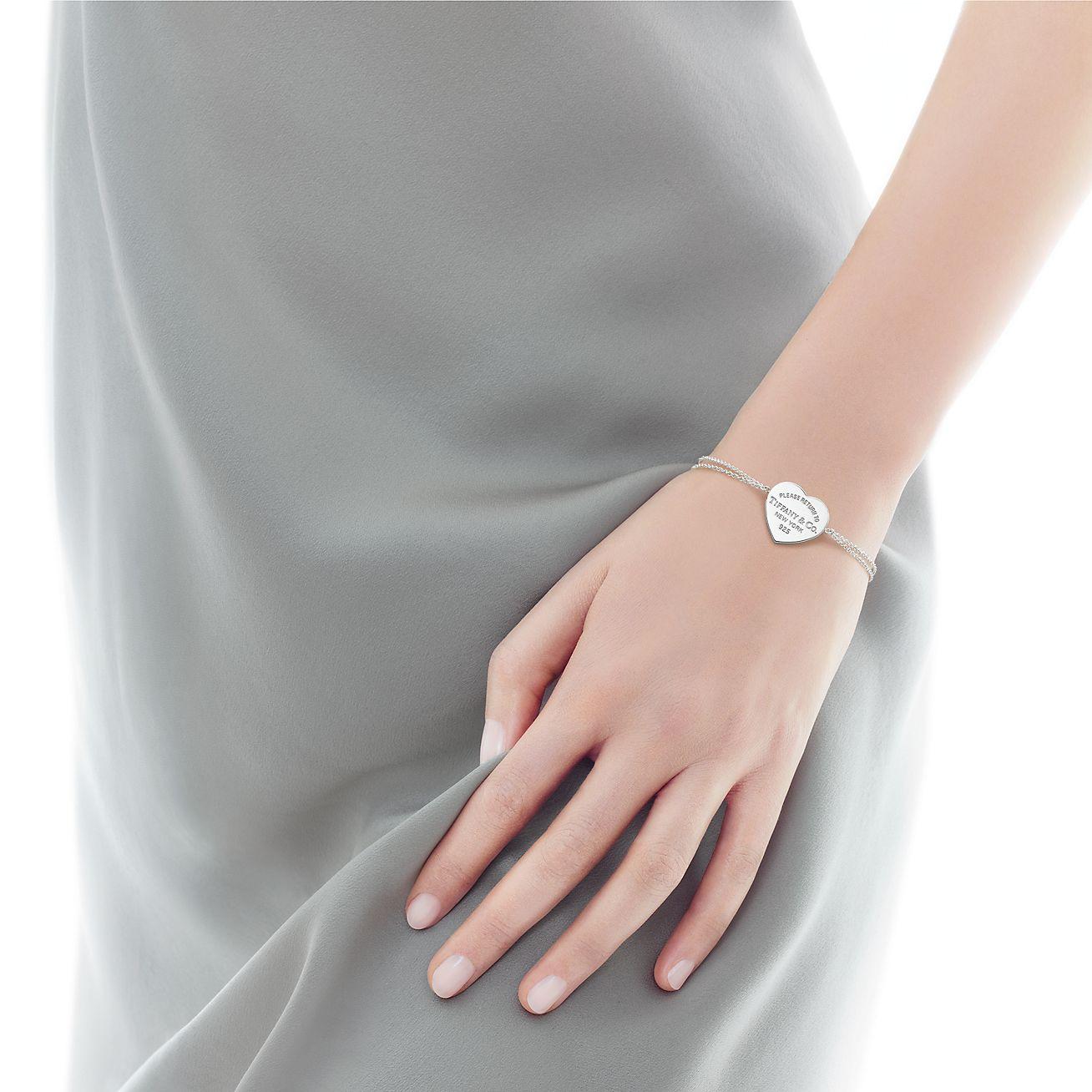 Bracelet Plaque Cœur Return to Tiffany™_model,shot,1