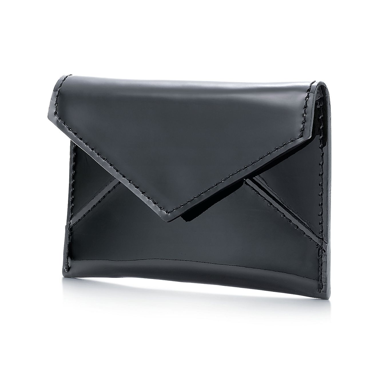Business card case in black patent leather tiffany co for Tiffany and co business card holder