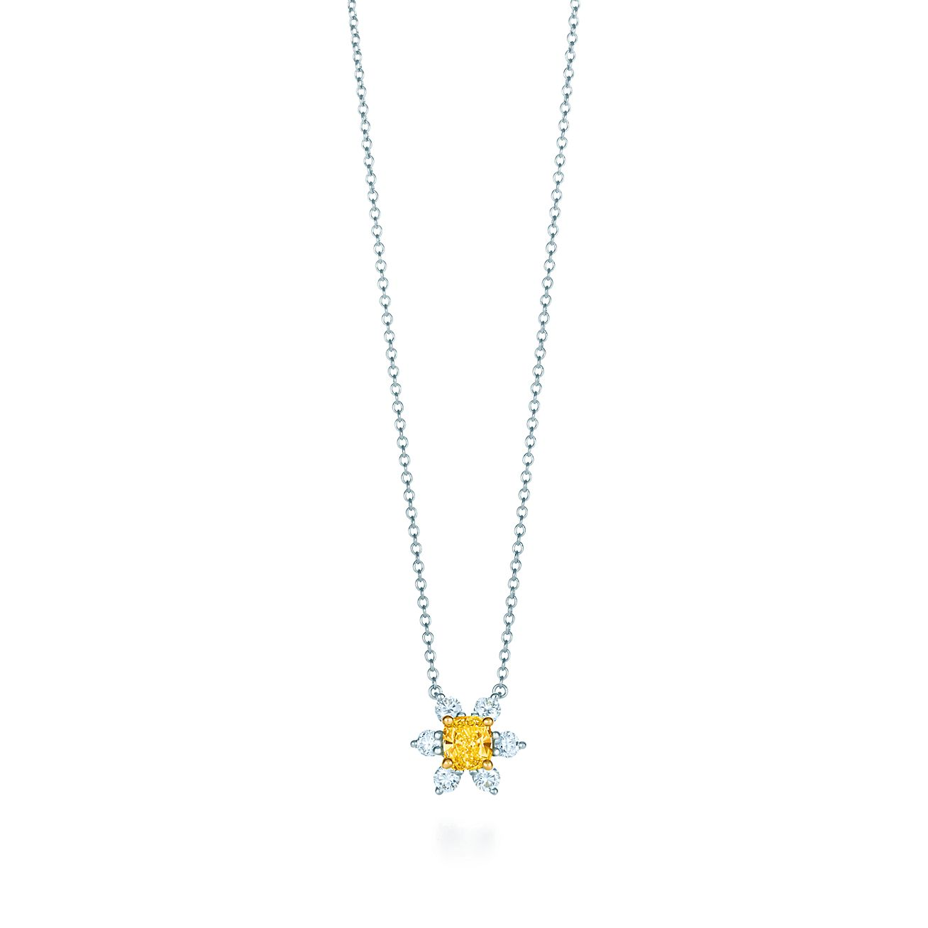 Buttercup pendant in 18k gold and platinum with a tiffany yellow buttercup pendant mozeypictures Image collections