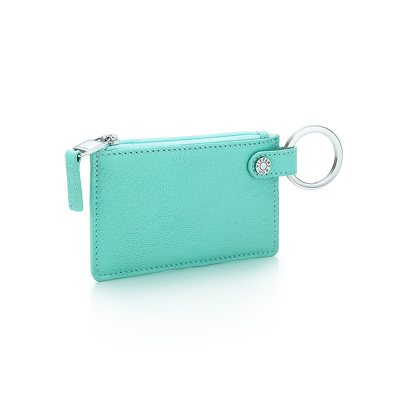 Card case in tiffany blue grain leather more colors for Tiffany business card case