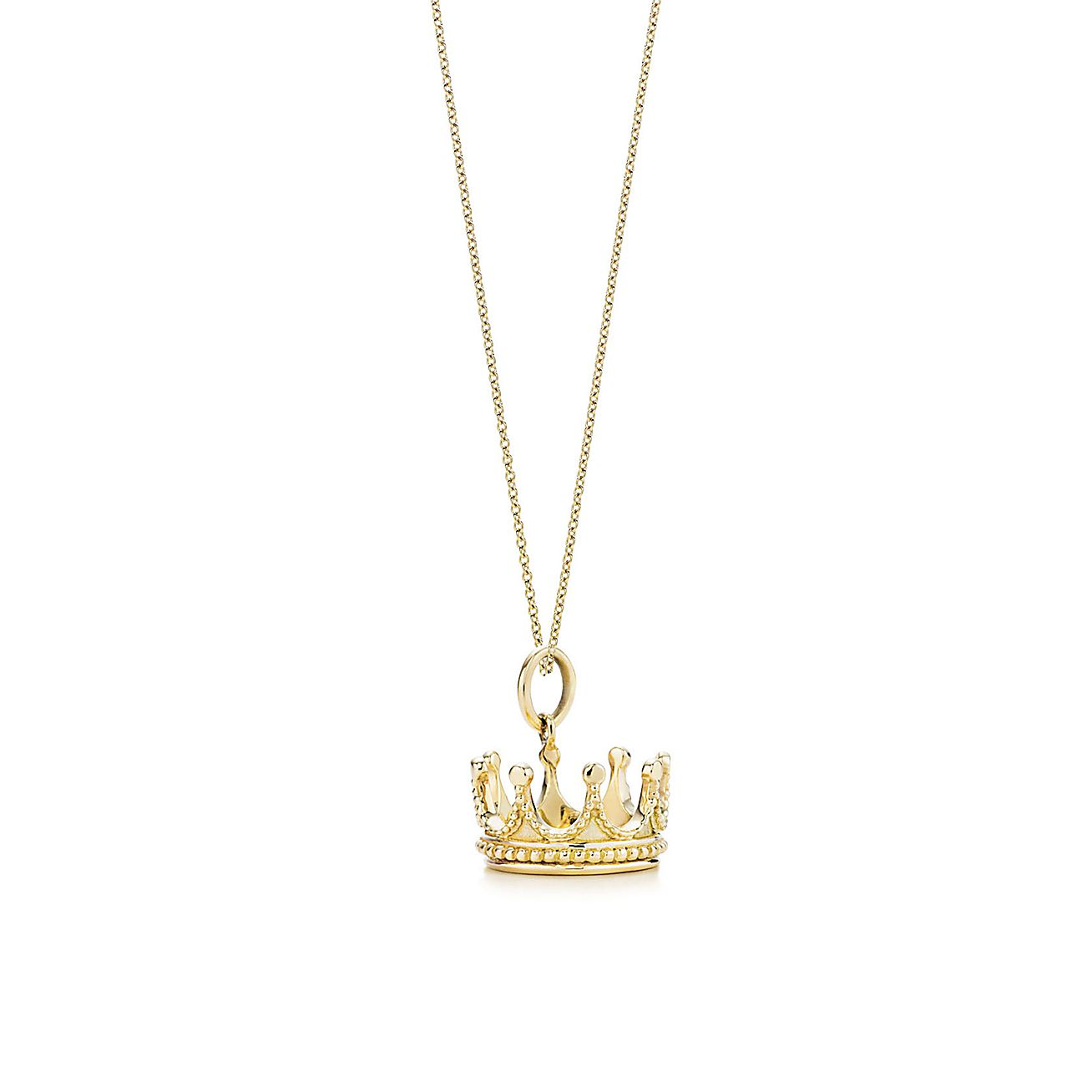 Crown charm and chain