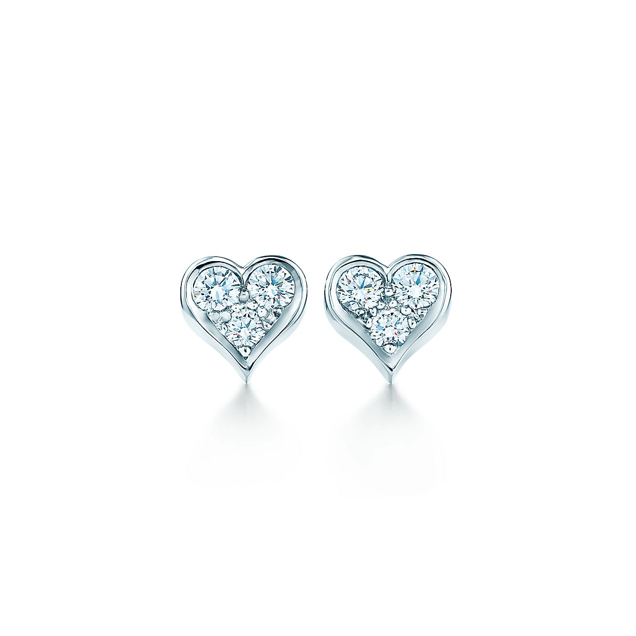 Diamond Heart<br>Earrings