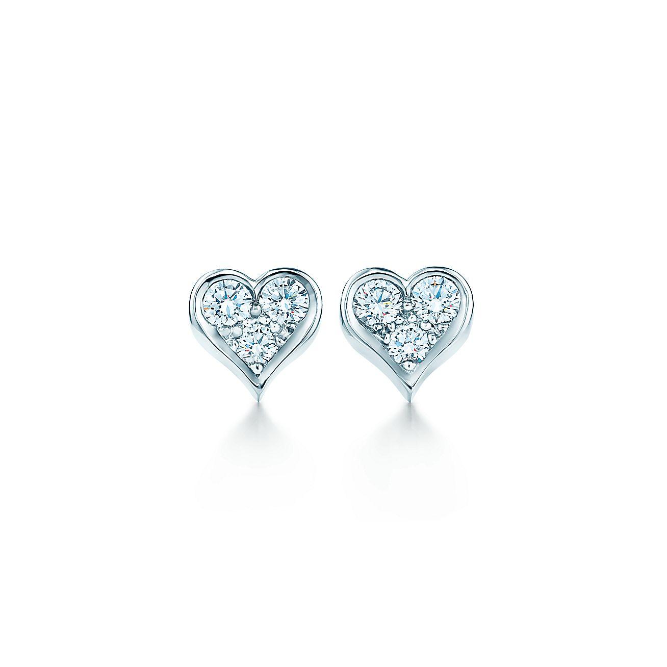 Diamond heart earrings - Diamond Heart Earrings 21