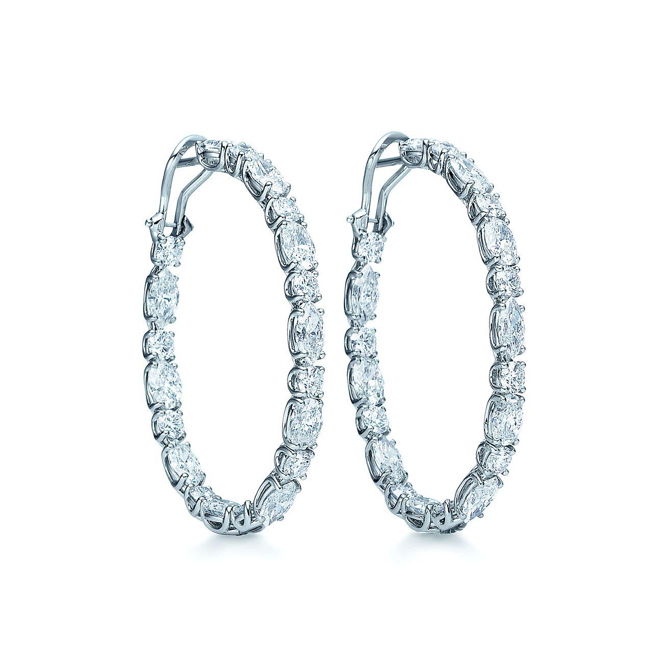 Oval Diamond Earrings Diamond Ovalhoop