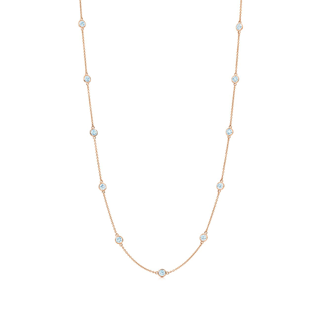 elsa peretti 174 diamonds by the yard 174 necklace in 18k