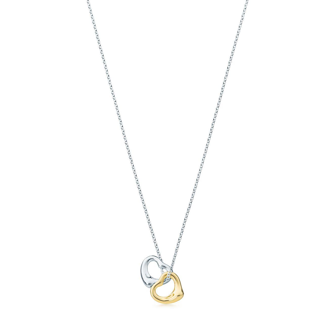 Jewelry amp watches gt fine jewelry gt fine necklaces amp pendants gt diamond - Tiffany Elsa Peretti Open Heart Pendant 18k Hot Girls
