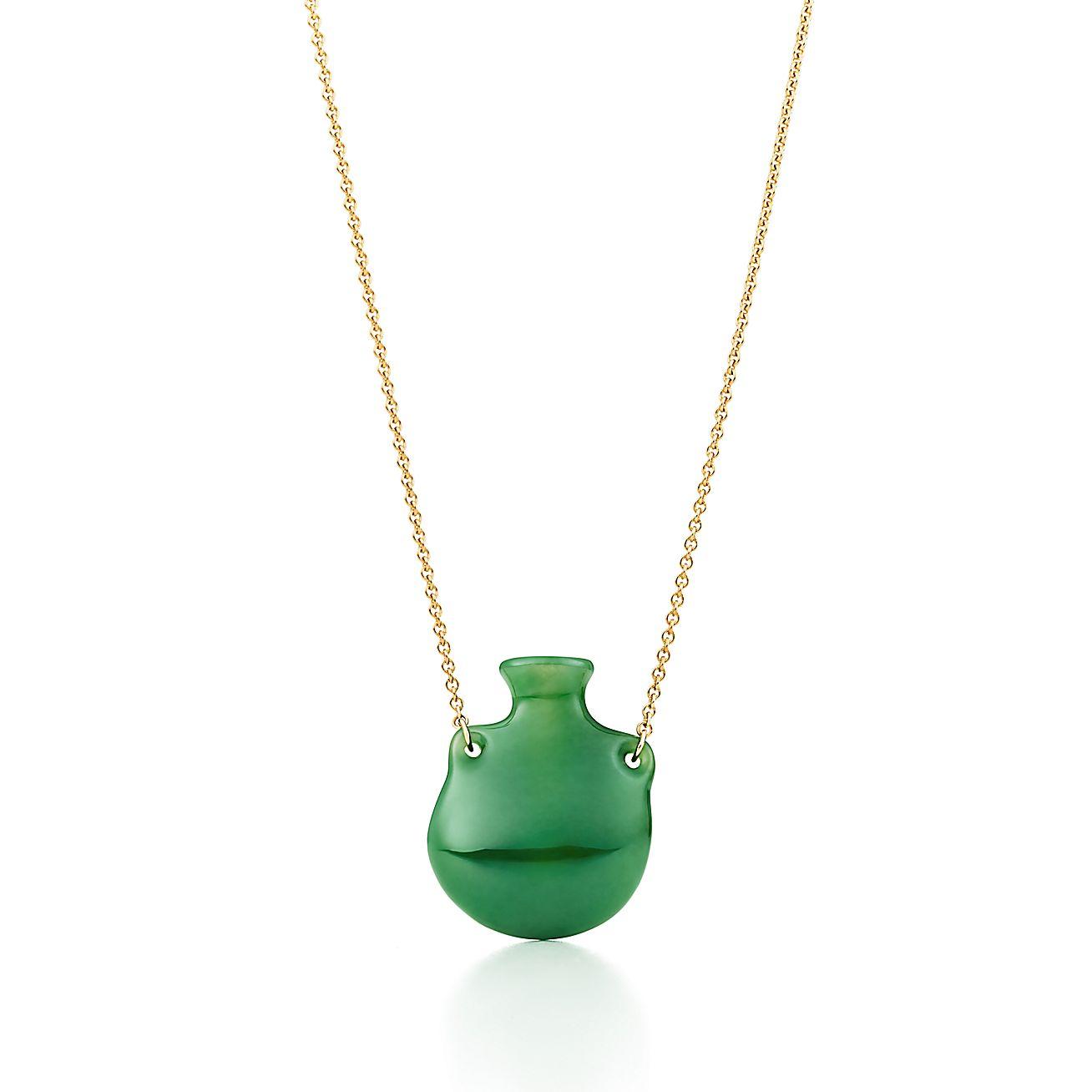 Elsa Peretti®:Bottle<br>Green Jade Pendant