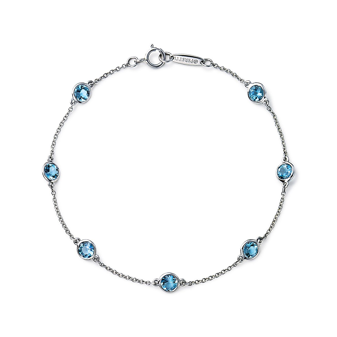 Elsa Peretti® Color by the Yard bracelet in platinum with