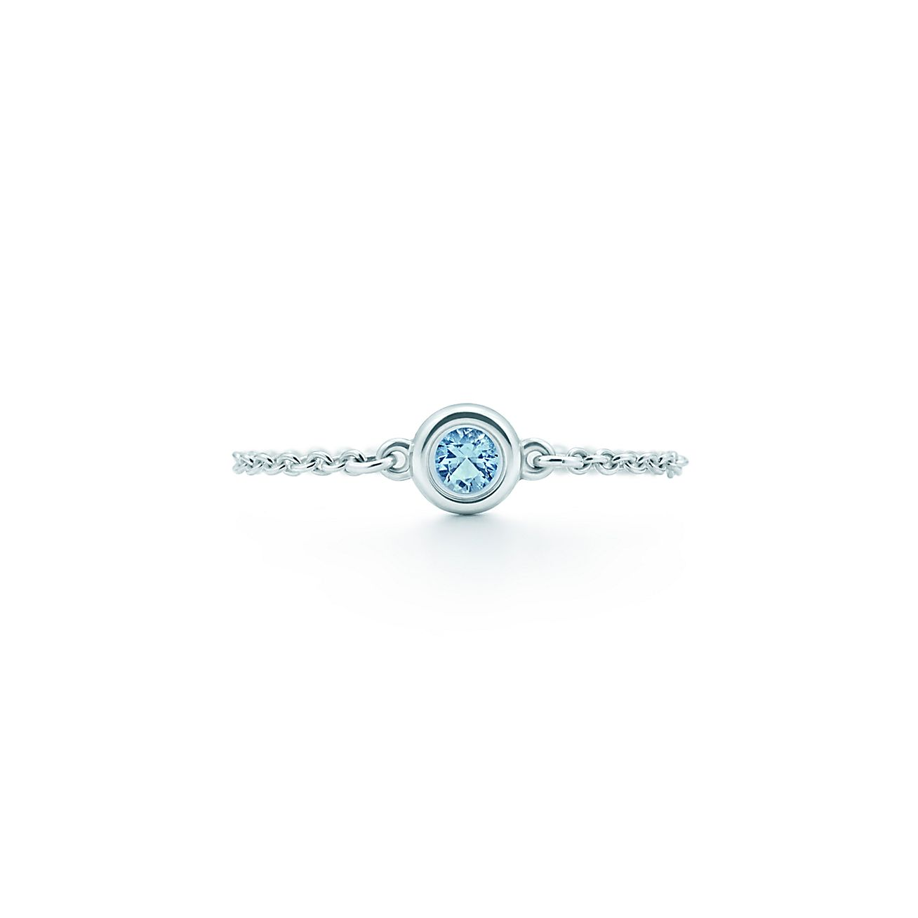 elsa peretti color by the yard ring in sterling silver with an aquamarine tiffany co - Elsa Peretti Color By The Yard Ring