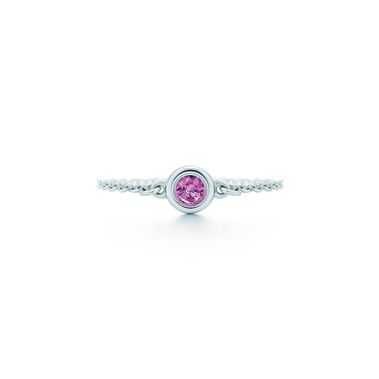 elsa peretti color by the yard ring in sterling silver with a pink sapphire tiffany co - Elsa Peretti Color By The Yard Ring