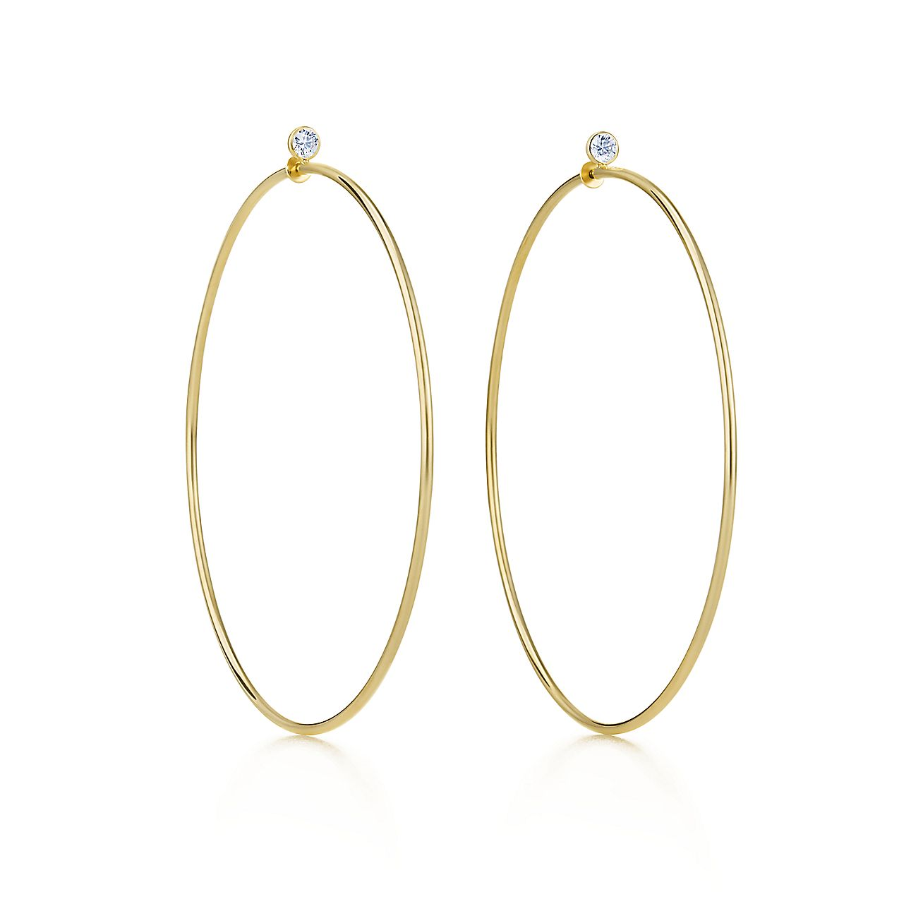 Elsa Peretti®:Diamond Hoop Earrings