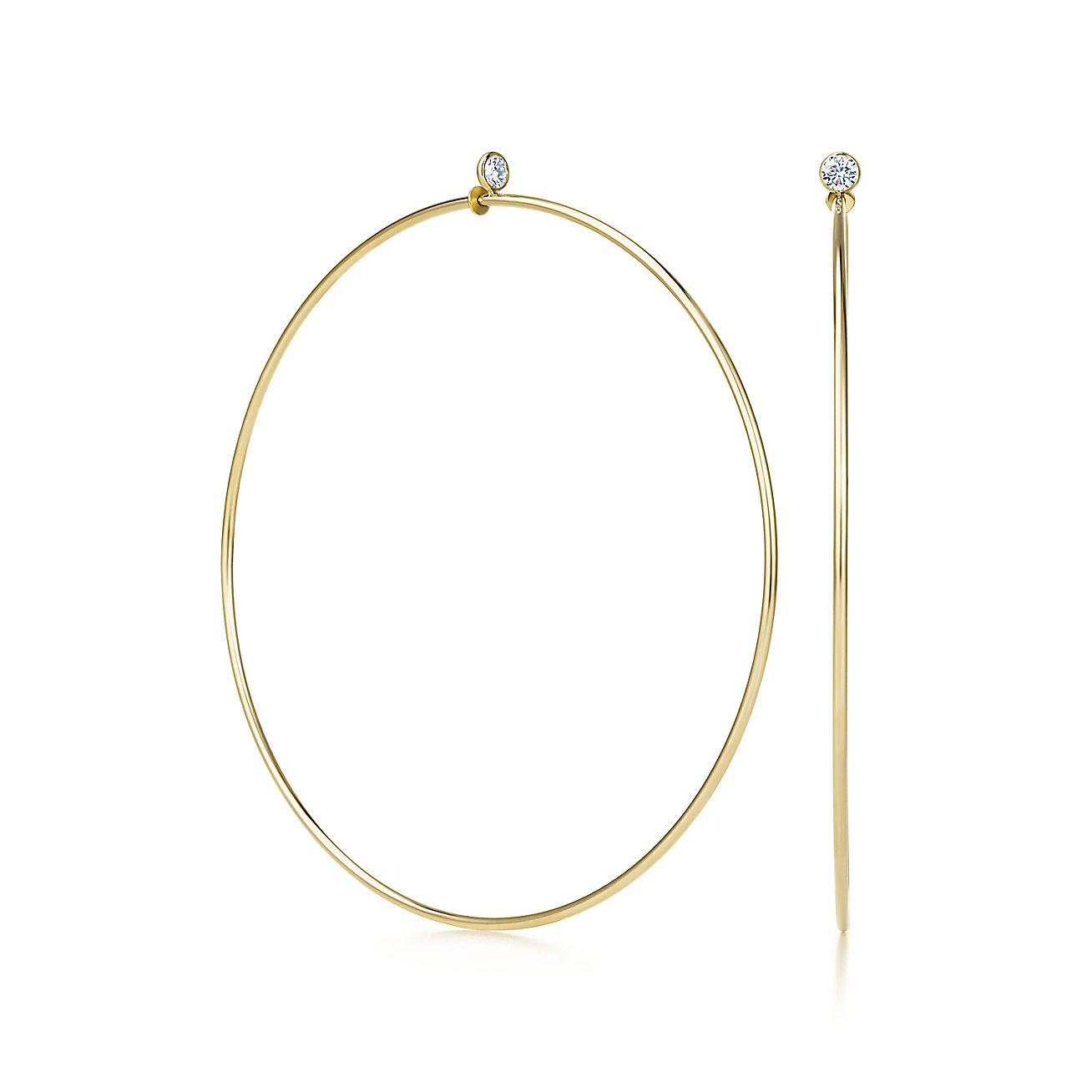Elsa Peretti®:Diamond Hoop Earrings