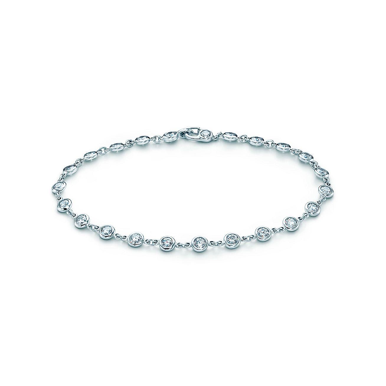 Elsa peretti bracelet diamonds platinum tiffany co for Diamonds by the yard ring
