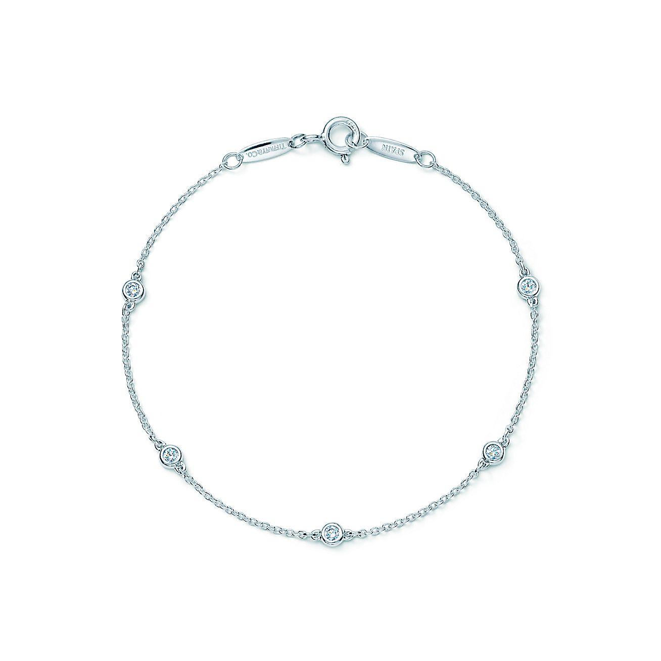 Elsa peretti diamonds by the yard bracelet in sterling for Diamonds by the yard ring