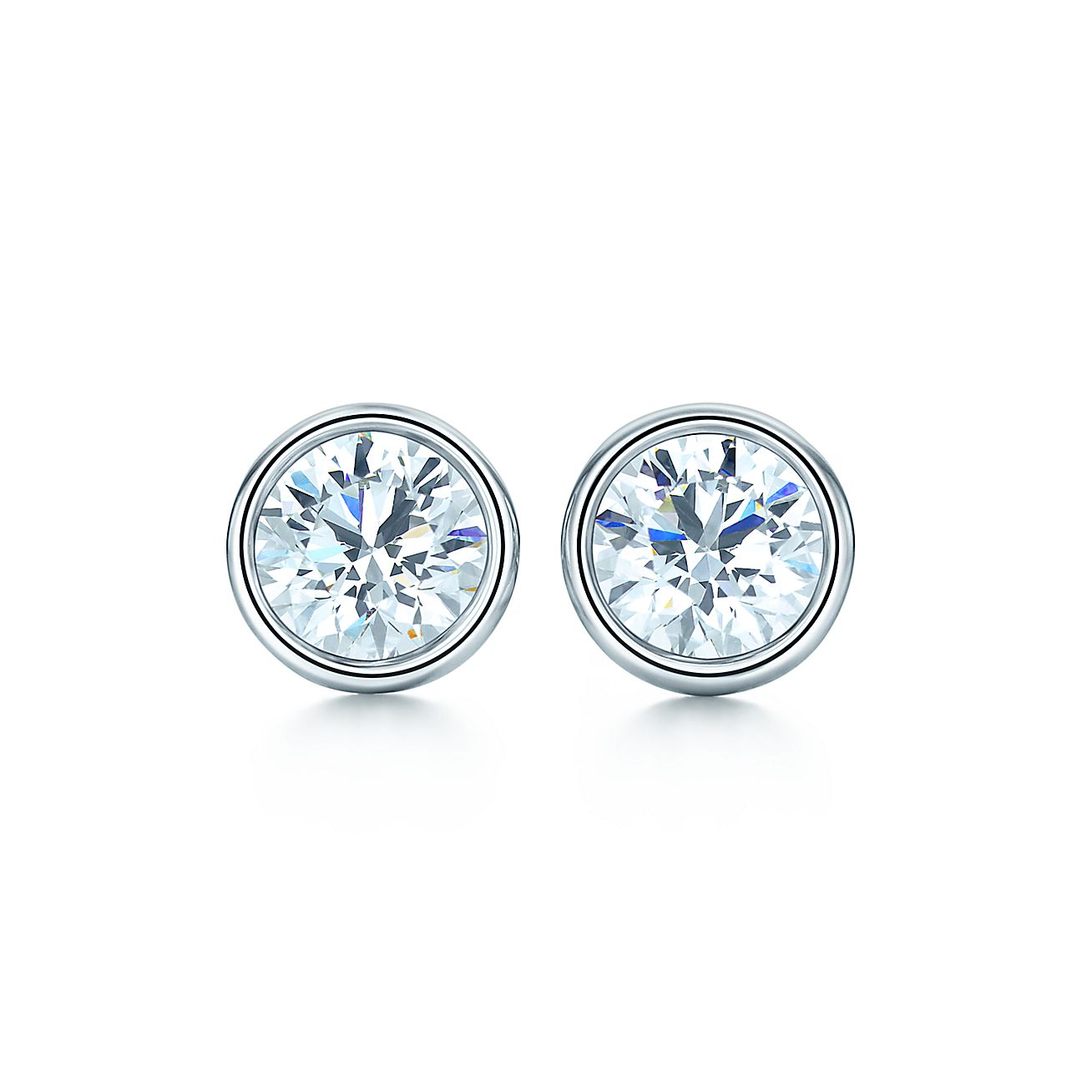 Elsa Peretti® Diamonds By The Yard® Earrings In Platinum  Tiffany & Co