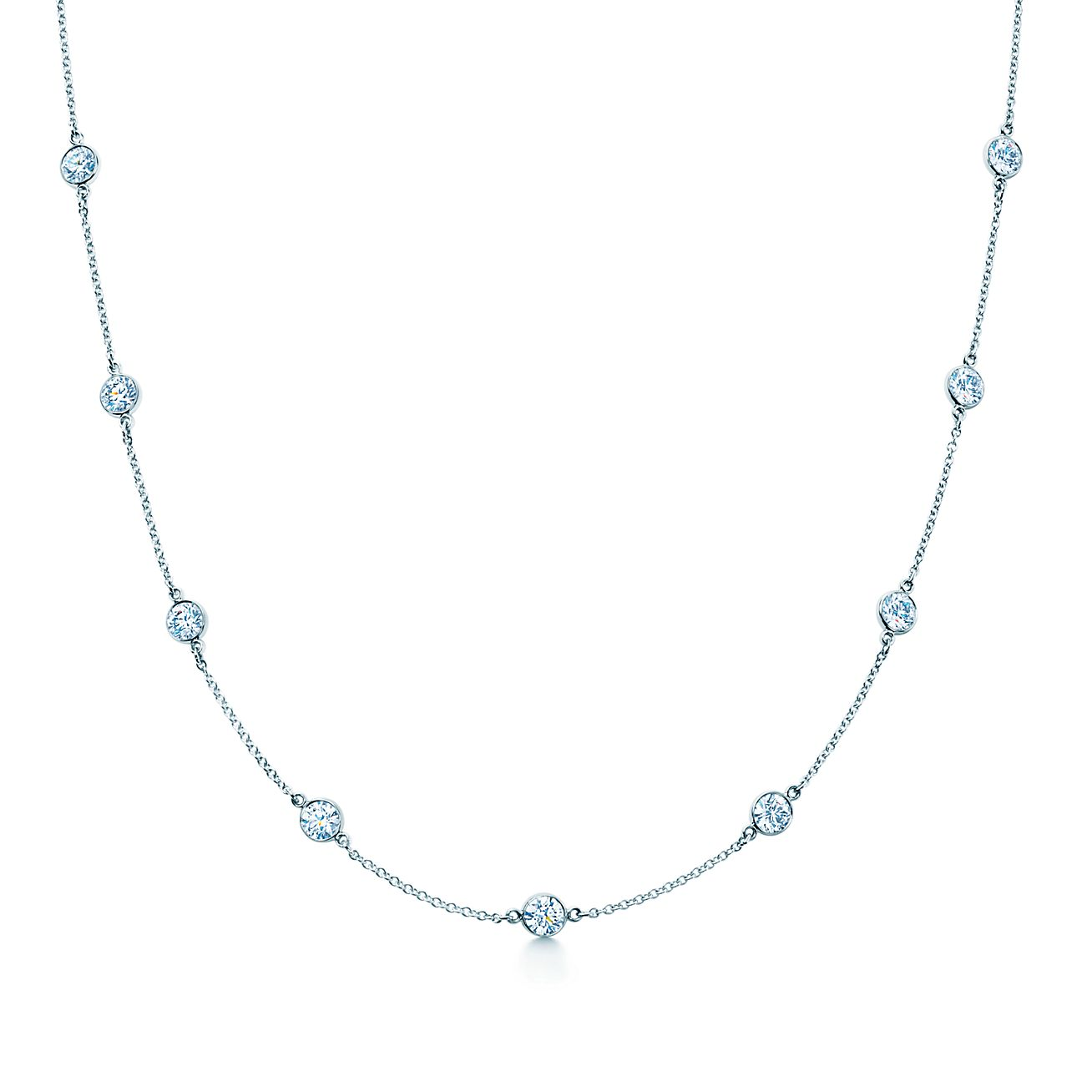 elsa peretti174 diamonds by the yard174 necklace in platinum