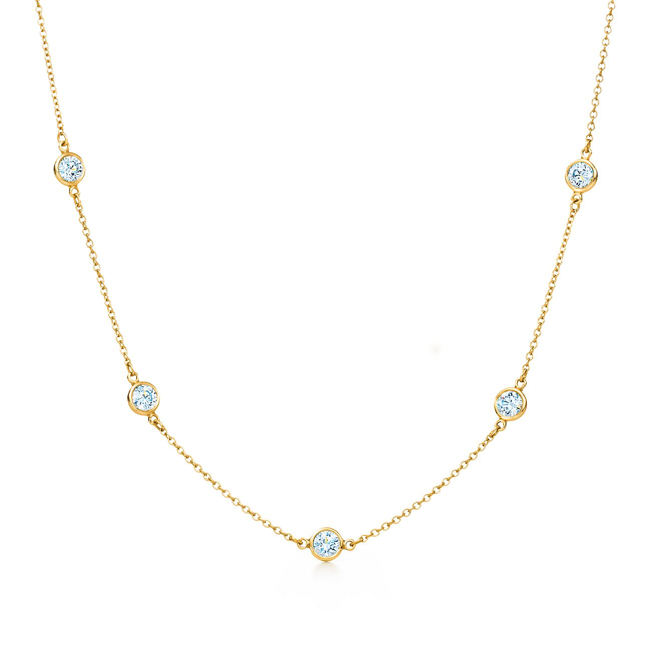 elsa peretti174 diamonds by the yard174 necklace in 18k gold