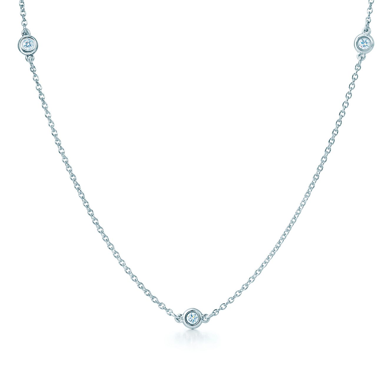 elsa peretti 174 diamonds by the yard 174 necklace in sterling