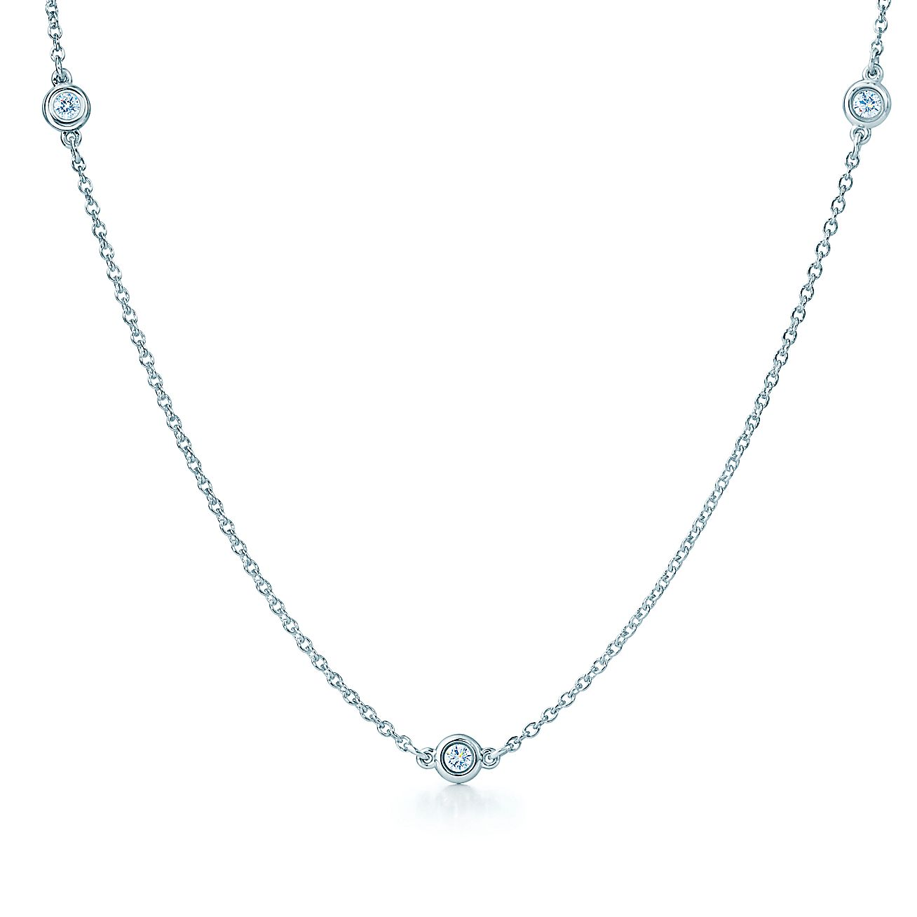 Elsa peretti diamonds by the yard necklace in sterling for Diamonds by the yard ring
