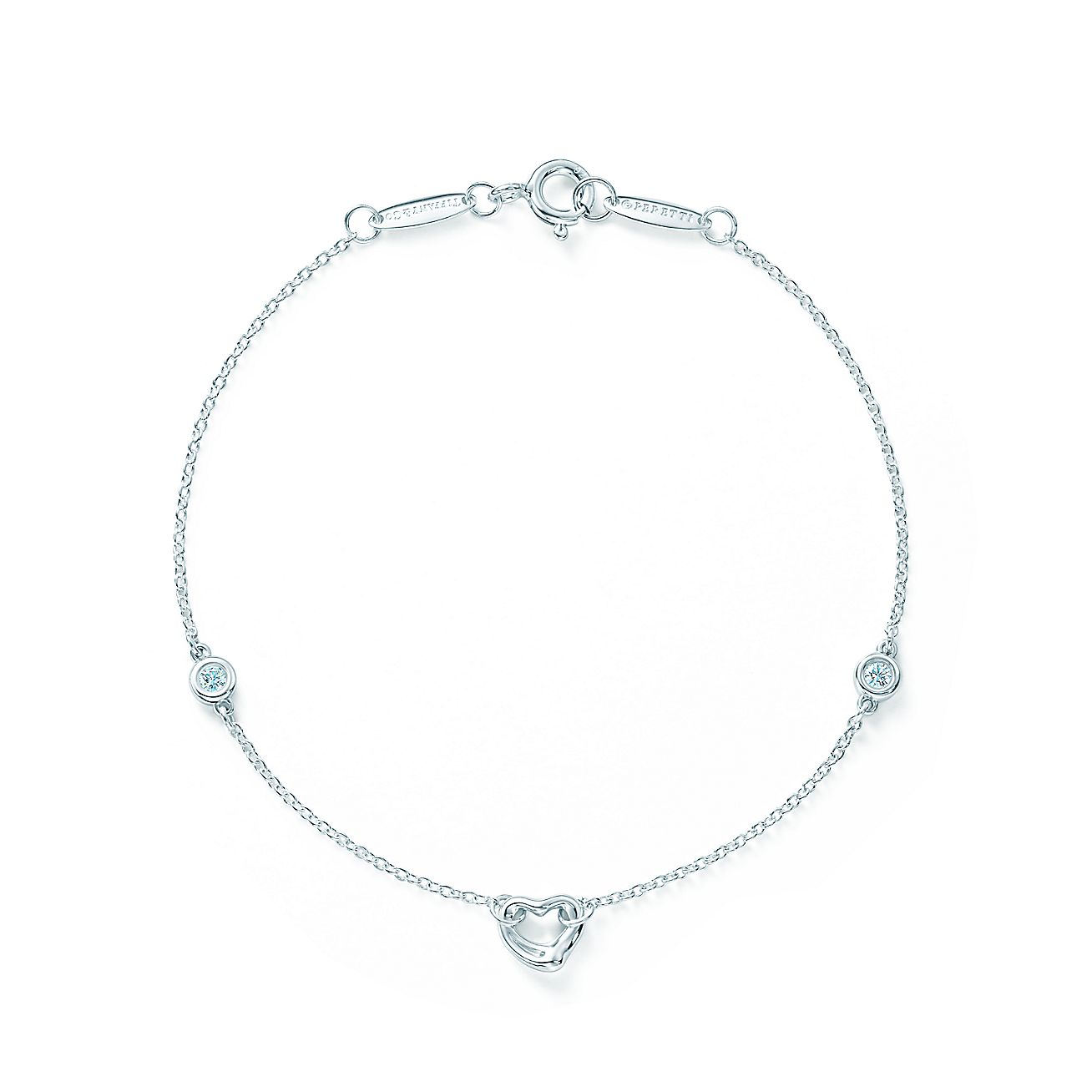 Elsa peretti diamonds by the yard open heart bracelet in for Diamonds by the yard ring