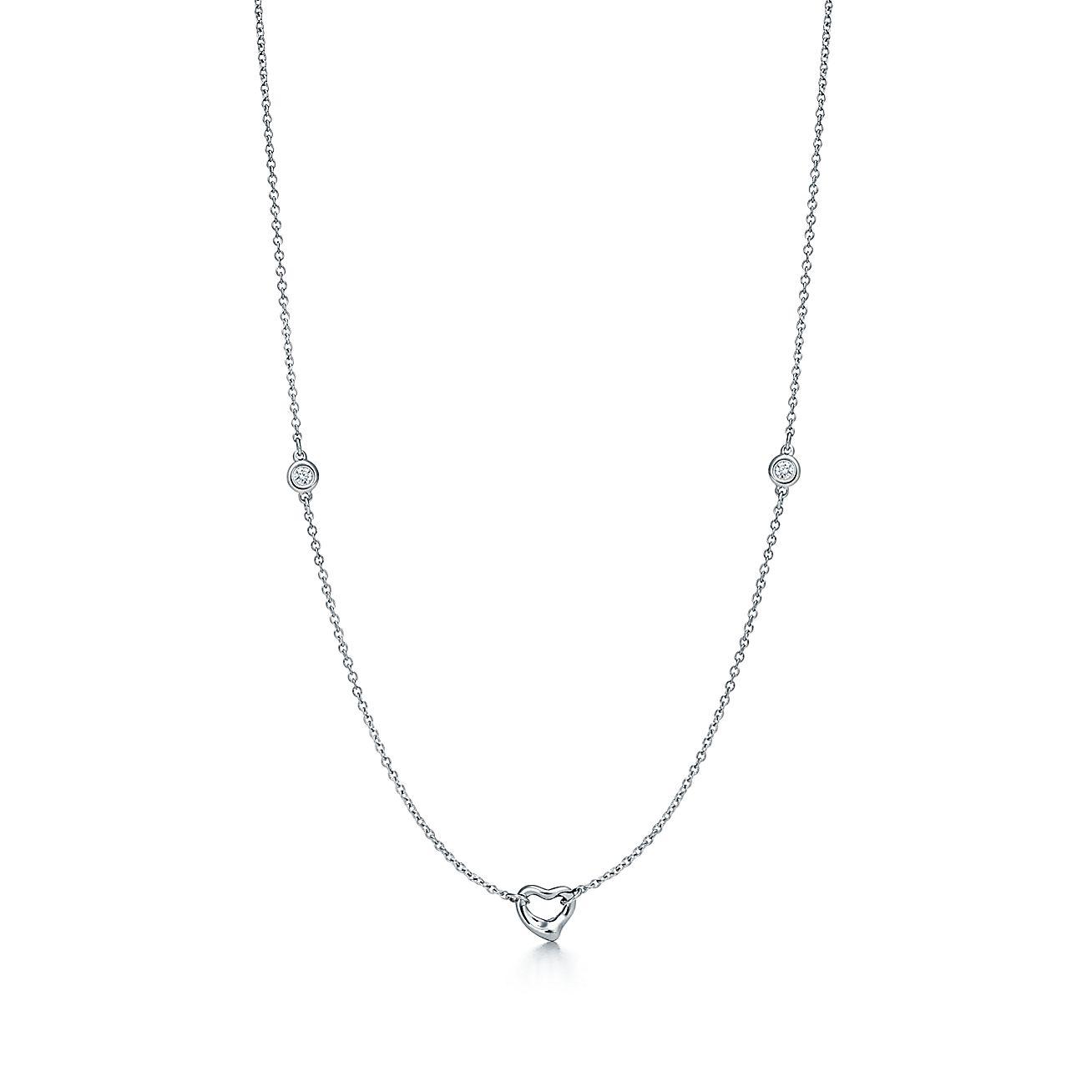 Elsa PerettiR Diamonds By The YardR Open Heart Necklace In Sterling Silver