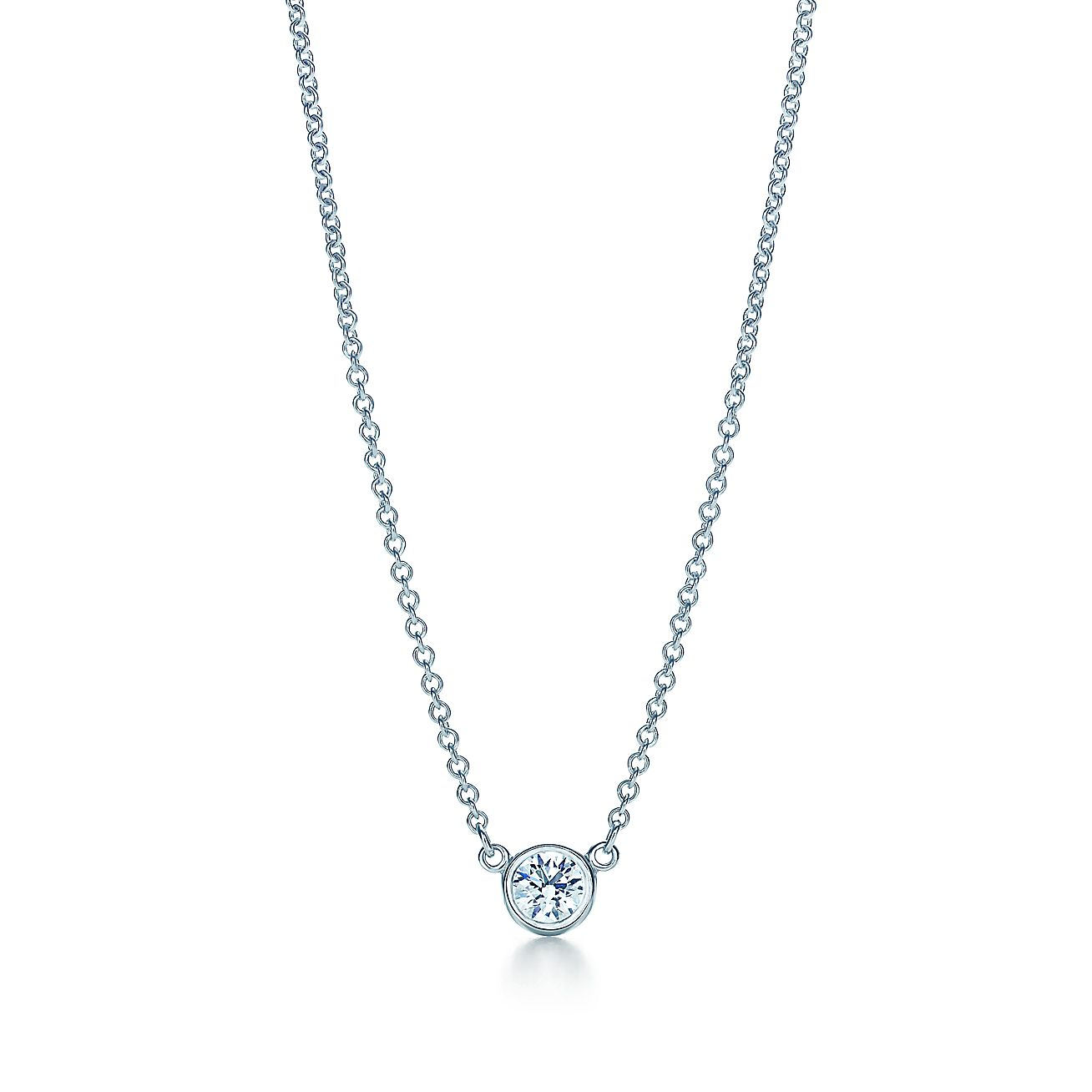 Elsa peretti diamonds by the yard pendant in platinum 16 for Diamonds by the yard ring