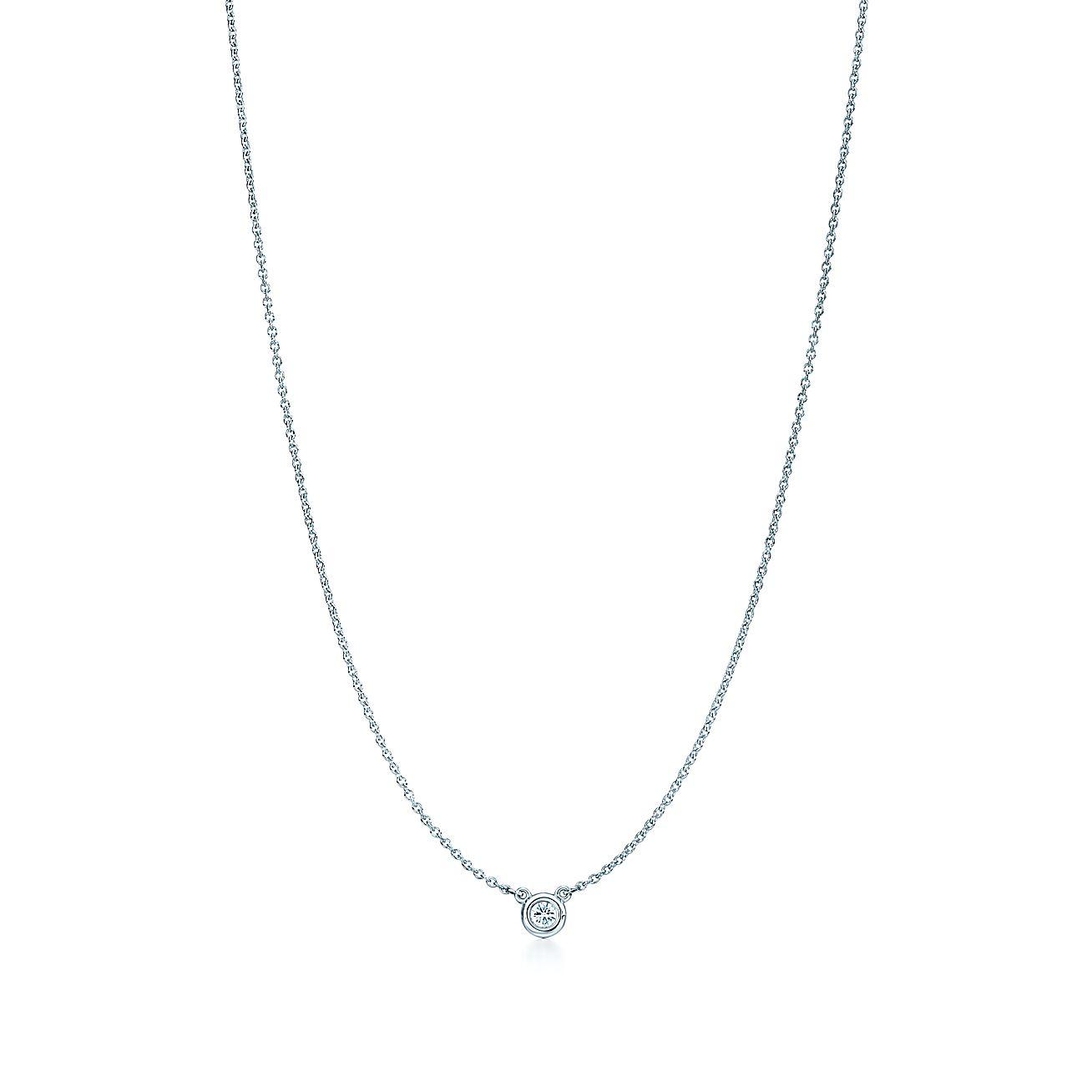 Elsa peretti diamonds by the yard pendant in sterling for Diamonds by the yard ring