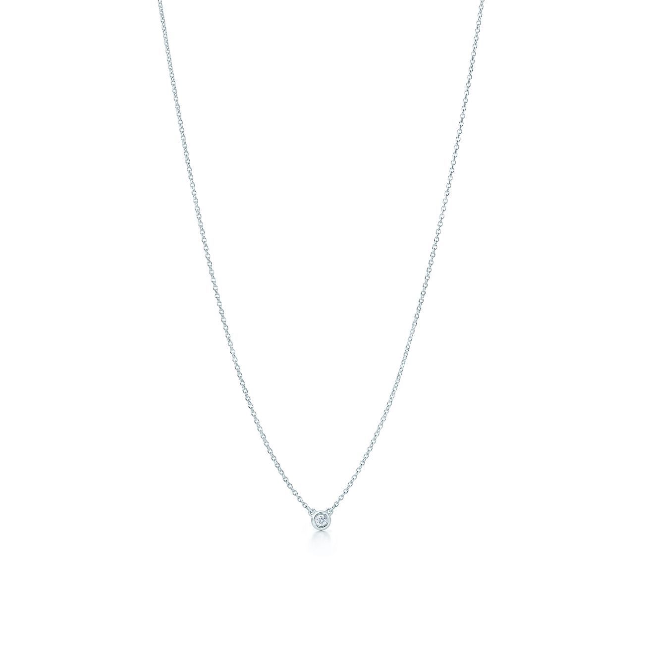 Diamond pendant necklace in sterling silver elsa peretti elsa perettidiamonds by the yard pendant mozeypictures Images