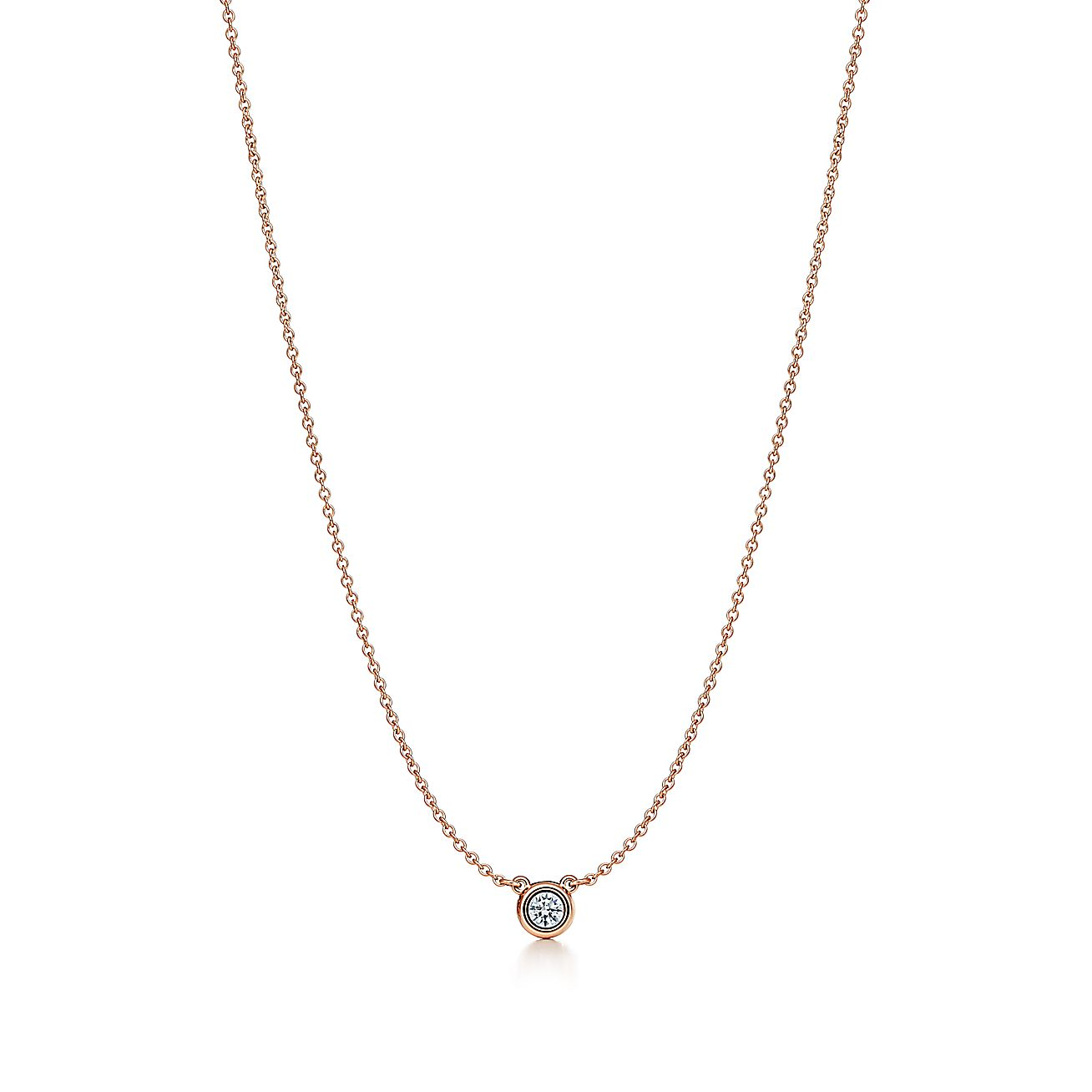Elsa peretti diamonds by the yard pendant in 18k rose for Diamonds by the yard ring