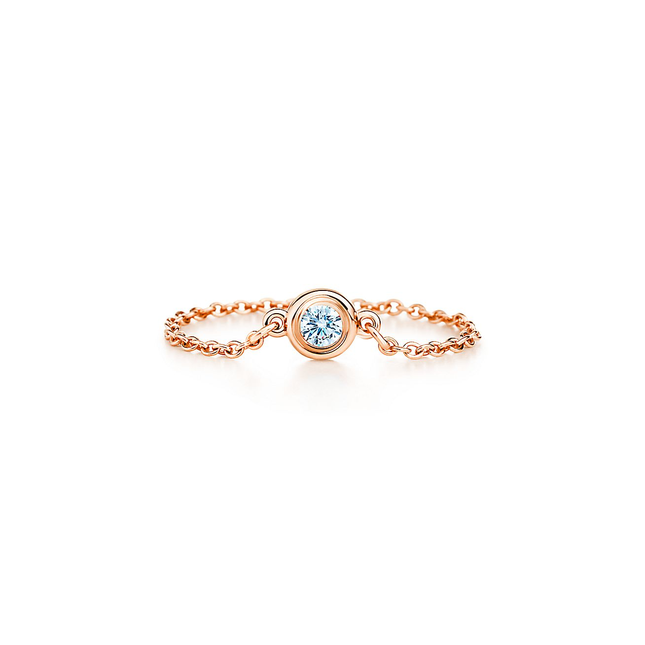 elsa peretti diamonds by the yard ring in 18k rose gold On diamonds by the yard ring