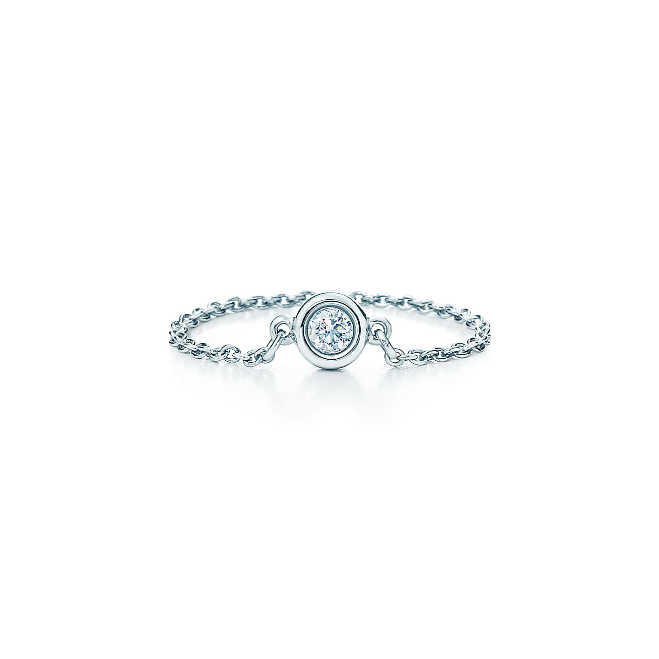 Elsa peretti diamonds by the yard ring in platinum for Diamonds by the yard ring
