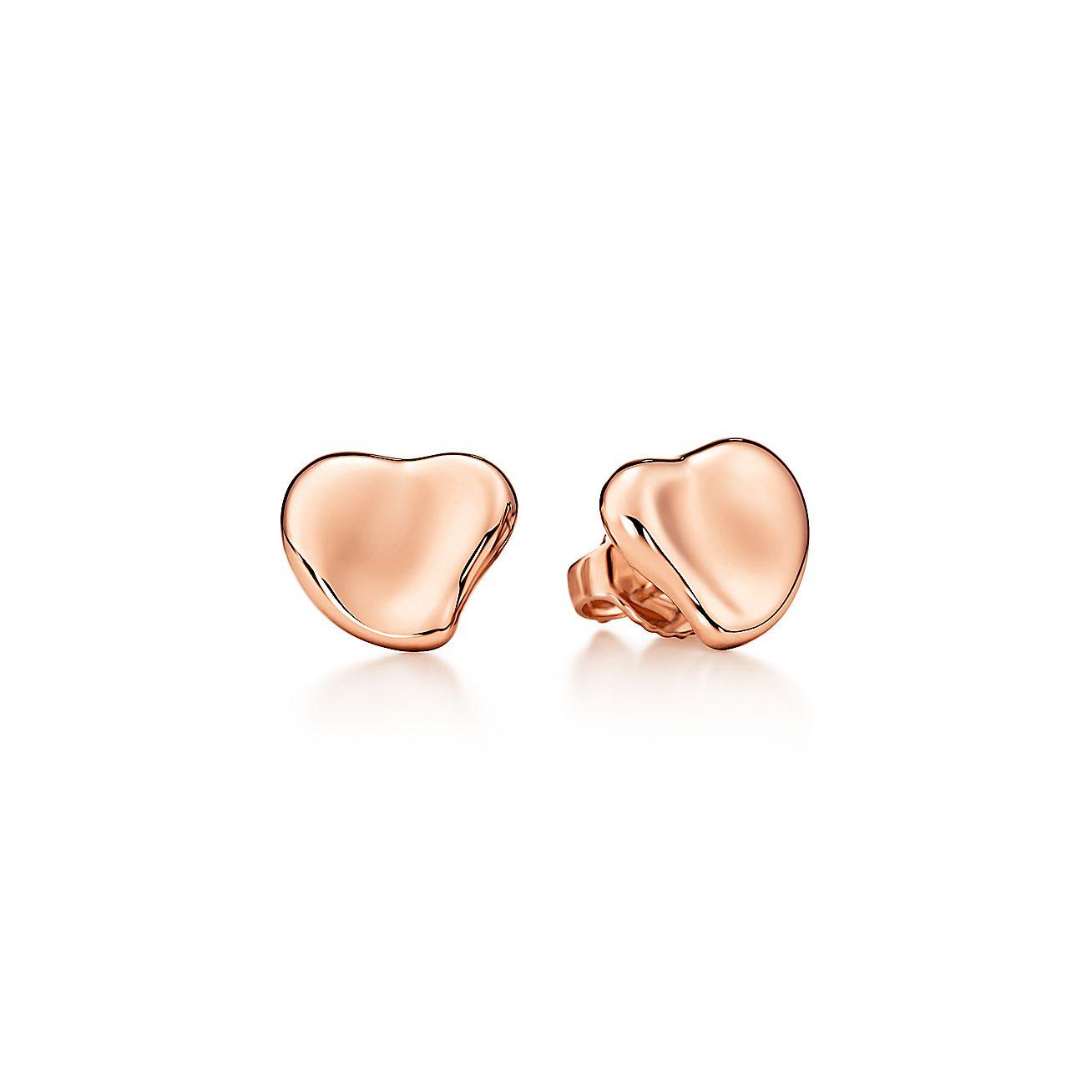 New Elsa Peretti® Full Heart Earrings In 18k Rose Gold, 10 Mm