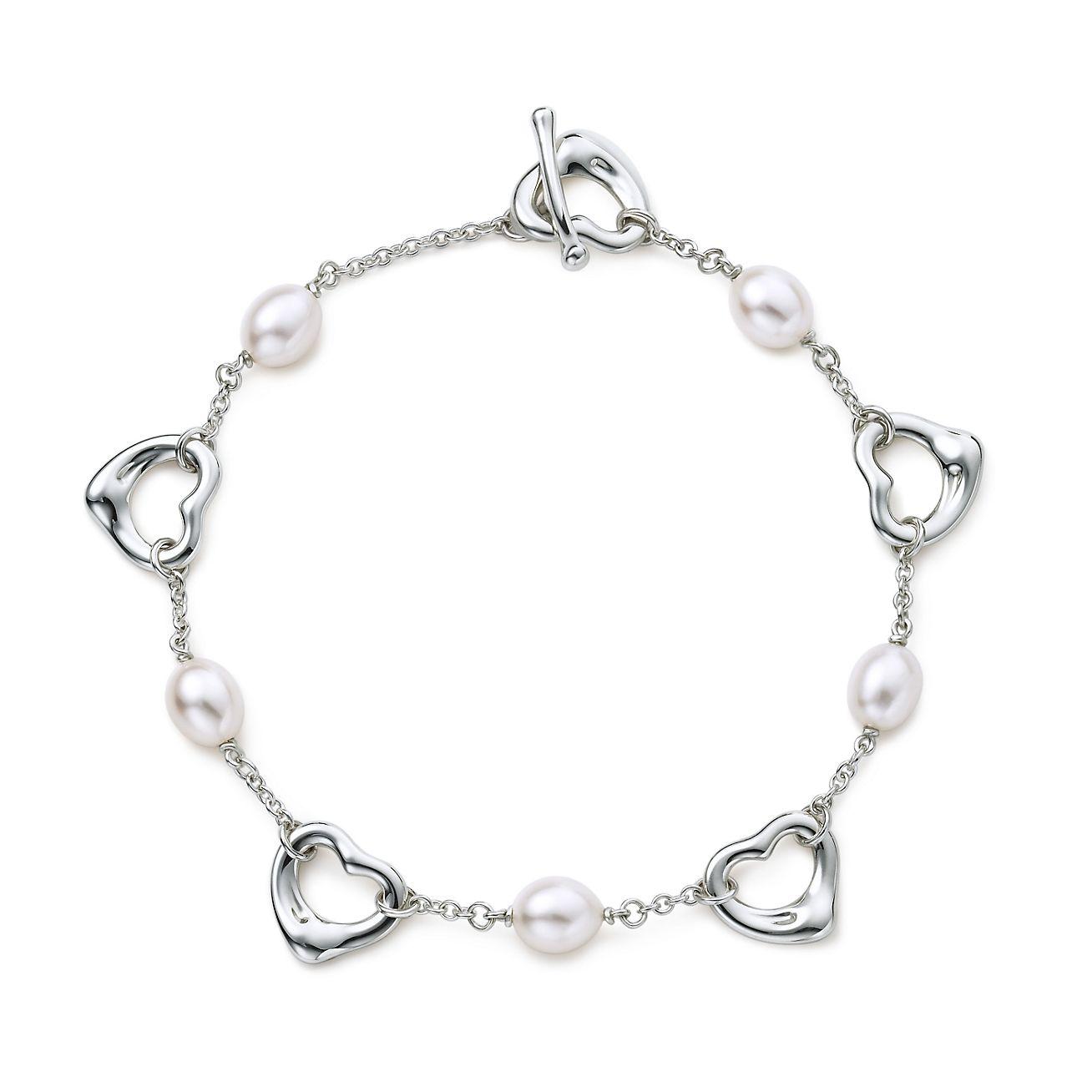 Tiffany Heart Bracelet >> Elsa Peretti® Open Heart bracelet with cultured pearls in ...