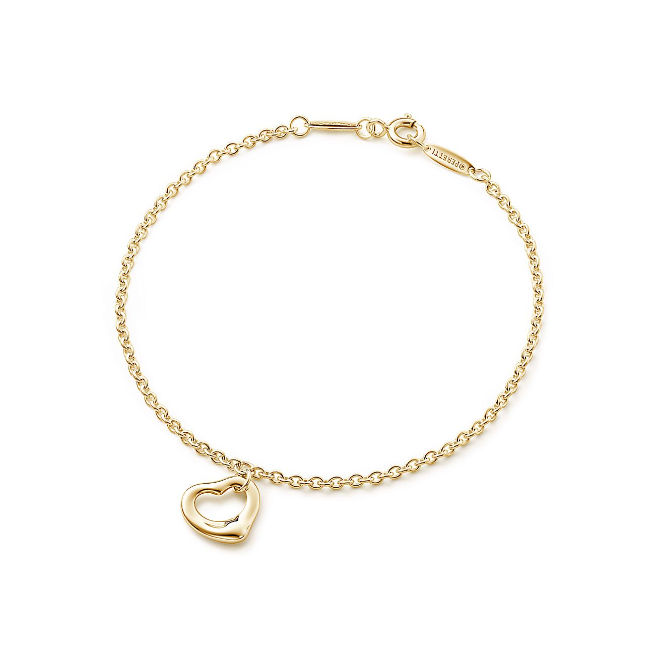 Bracelet With Hearts: Elsa Peretti® Open Heart Bracelet In 18k Gold, Large
