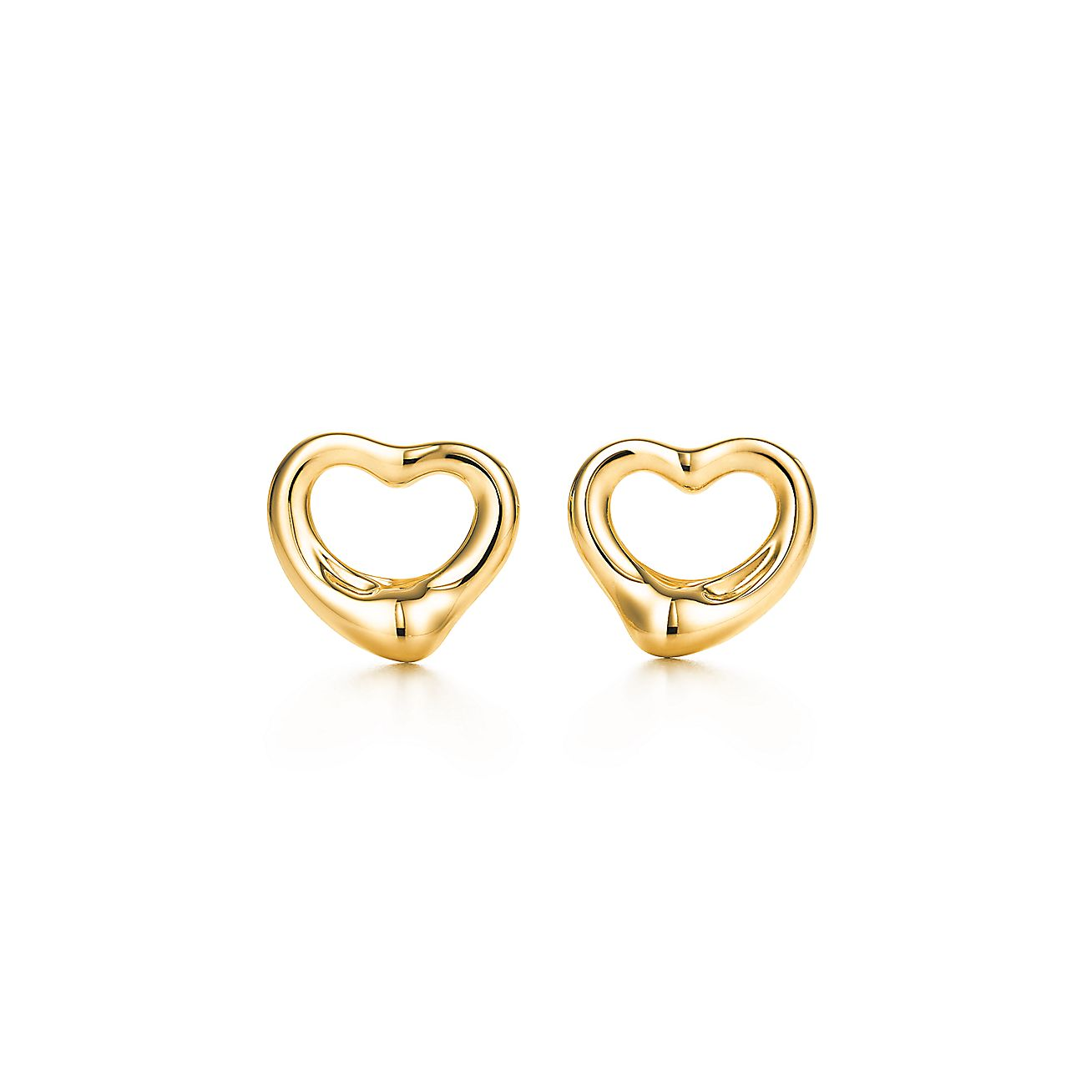 heart earrings gold - photo #25