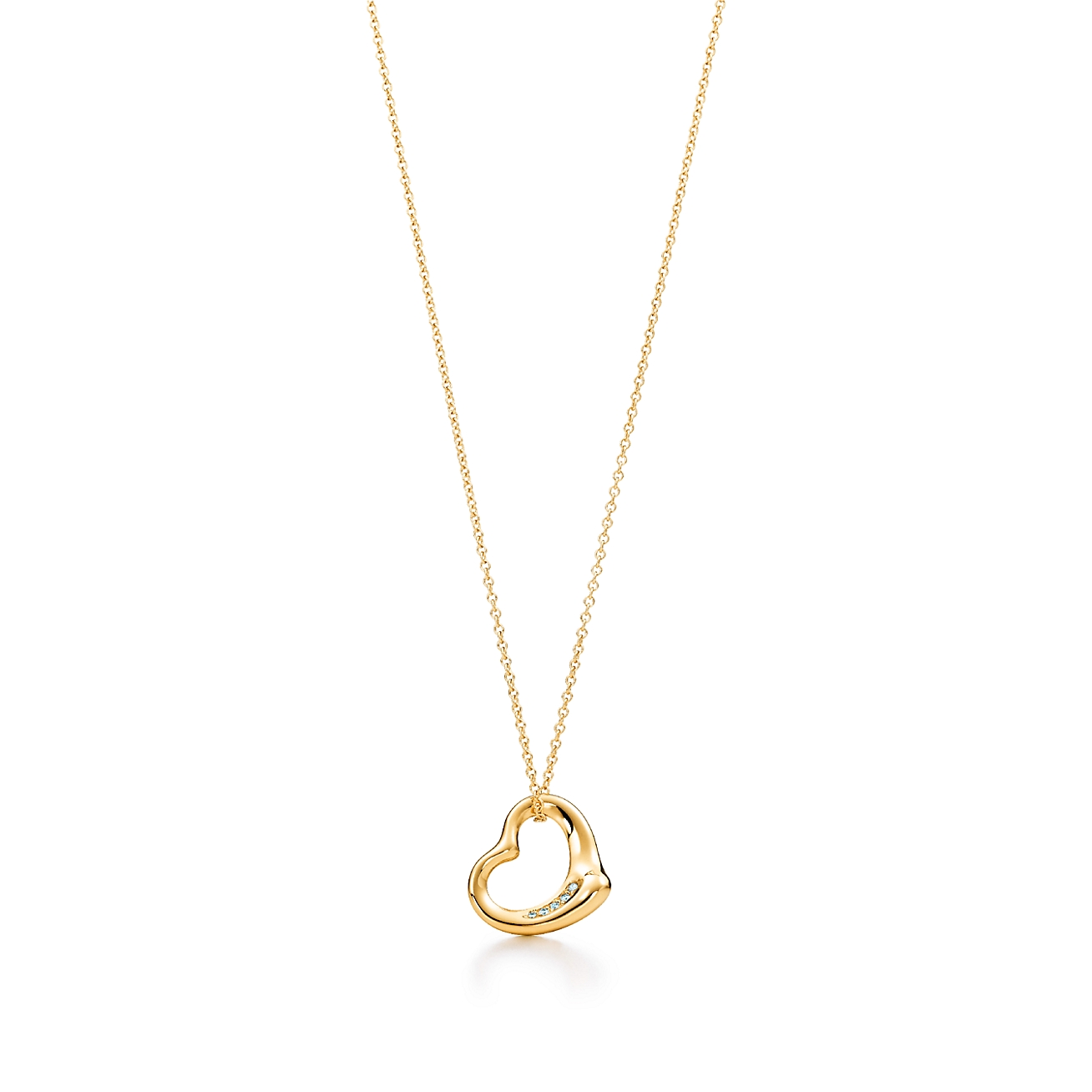 Elsa peretti open heart pendant in 18k gold with diamonds deletelarge elsa perettiopen heart pendant aloadofball Gallery
