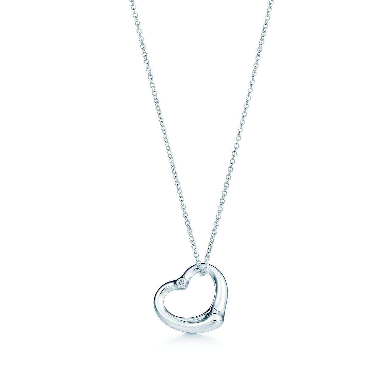 Elsa peretti open heart pendant in sterling silver with a diamond elsa perettiopen heart pendant aloadofball Gallery