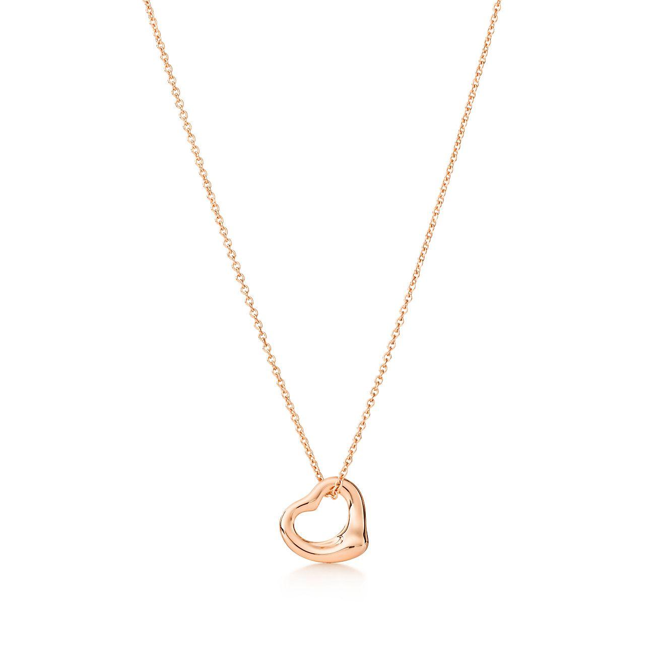 Elsa peretti open heart pendant in 18k rose gold 11 mm elsa perettiopen heart pendant aloadofball Gallery