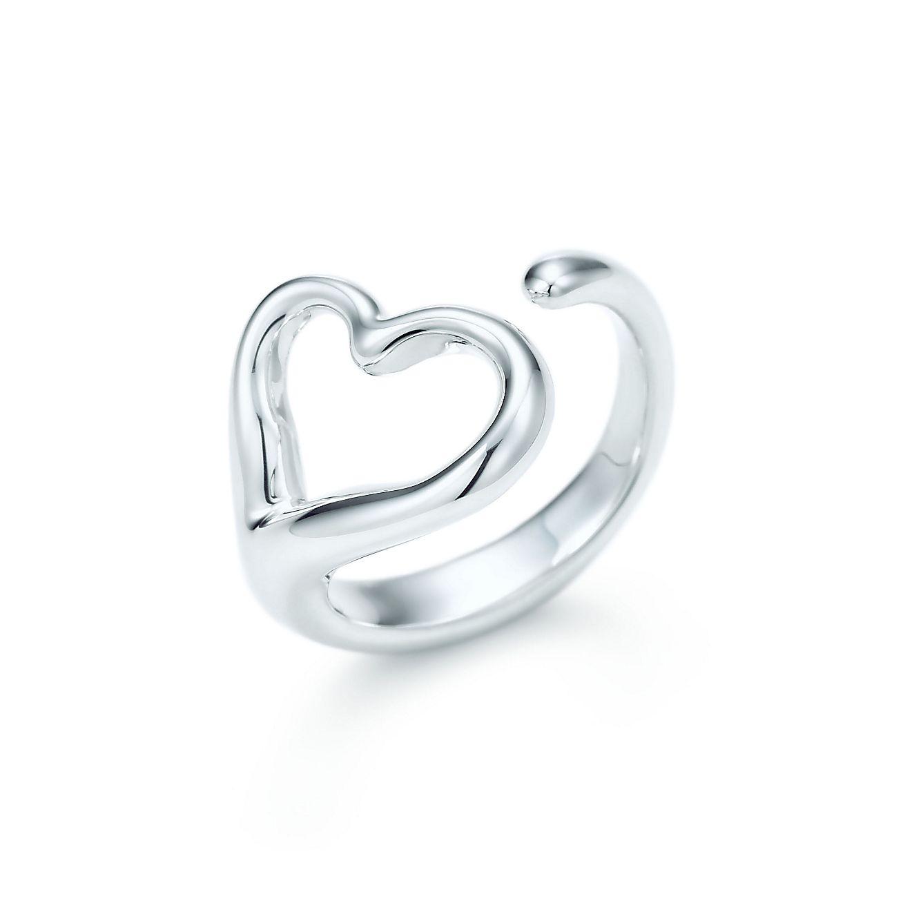 elsa peretti open heart ring in sterling silver medium tiffany co. Black Bedroom Furniture Sets. Home Design Ideas