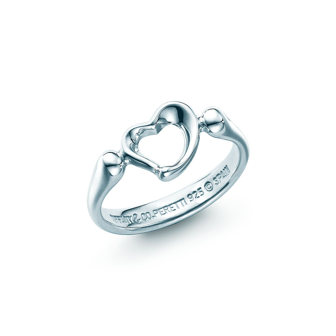 elsa peretti open heart ring in sterling silver mini tiffany co. Black Bedroom Furniture Sets. Home Design Ideas