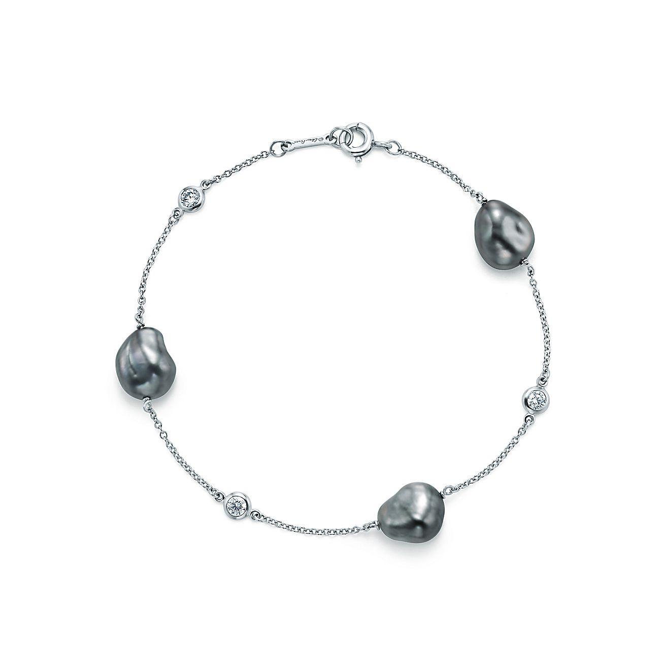 Elsa Peretti® bracelet with Tahitian Keshi pearls and