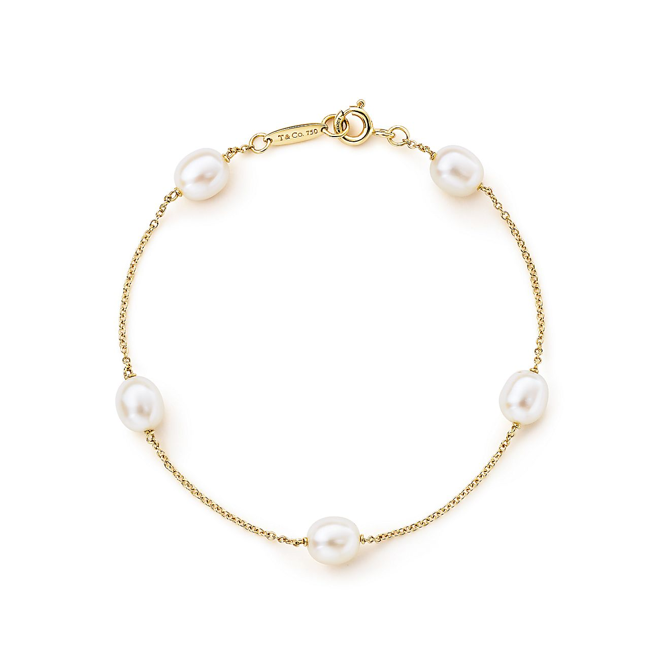 Elsa peretti pearls by the yard bracelet in 18k gold for New mom jewelry tiffany