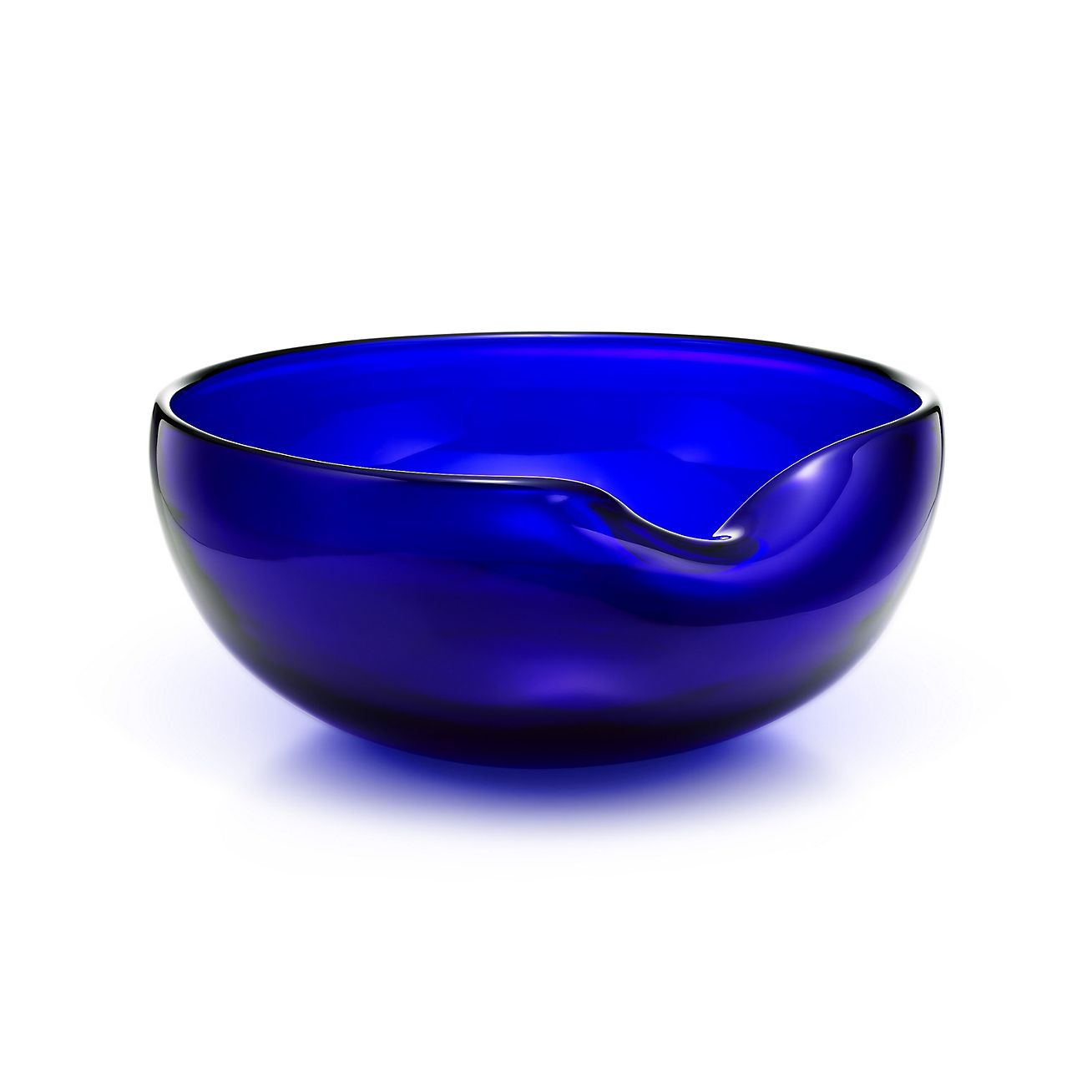 Elsa Peretti 174 Thumbprint Bowl In Cobalt Glass Tiffany Amp Co