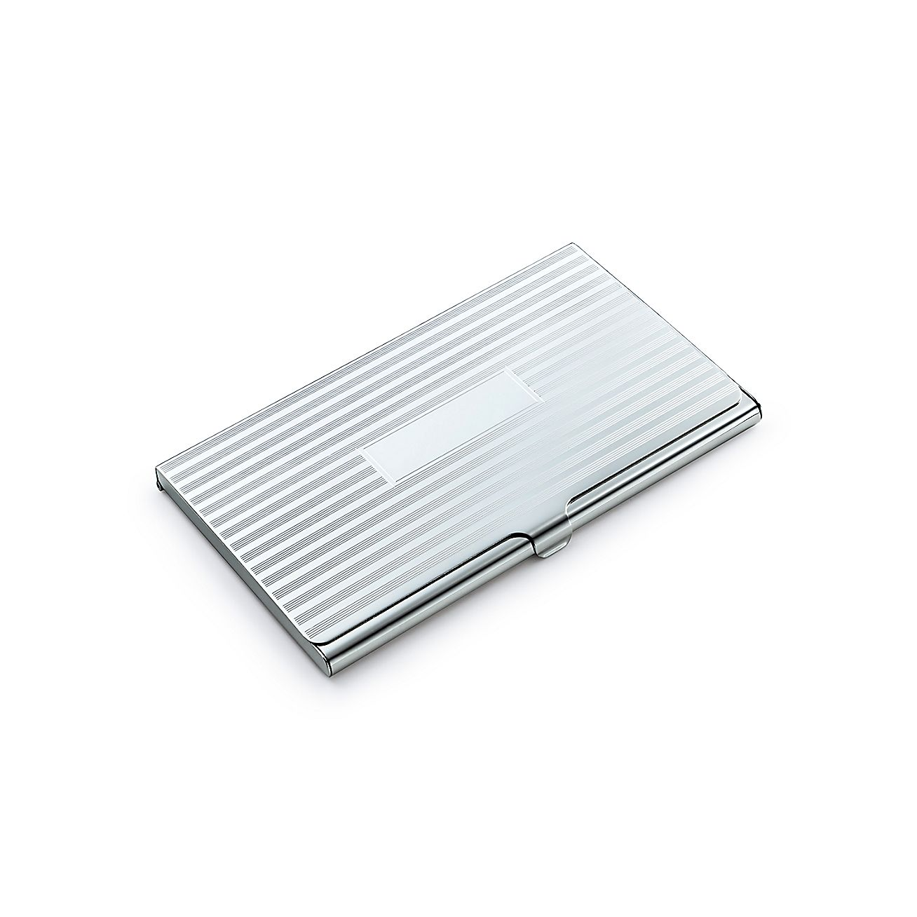 Engine turned business card case in sterling silver for Tiffany business card case