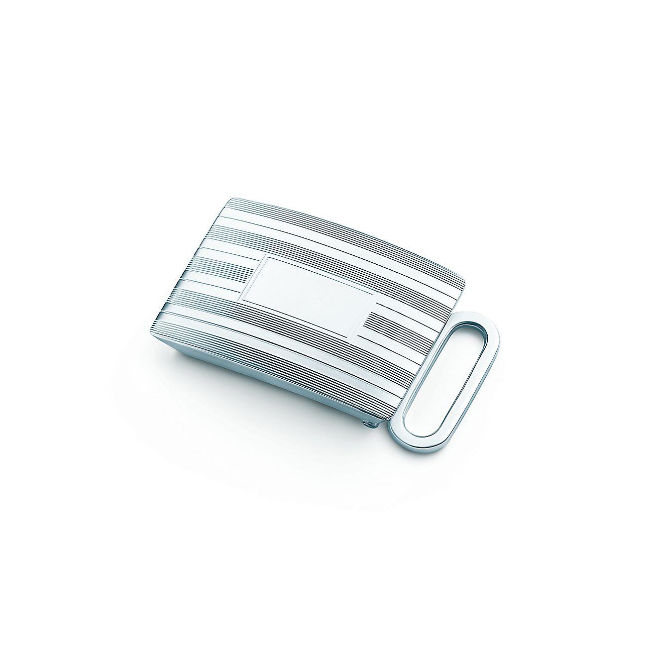 Engine-turned<br>Slide Belt Buckle