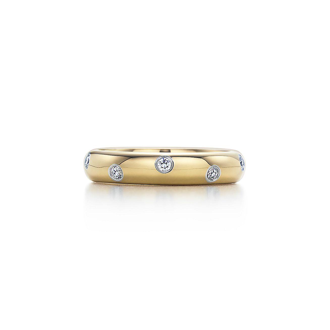 anel etoile em ouro 18k em platina com diamantes. Black Bedroom Furniture Sets. Home Design Ideas