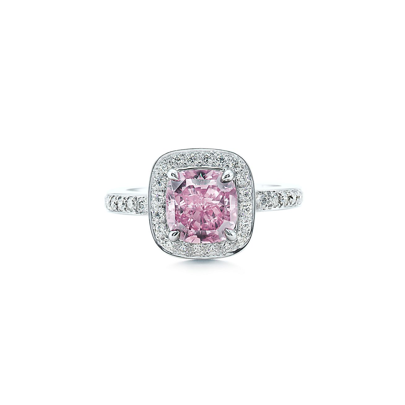 trendy engagement ring for young: pink diamond engagement rings