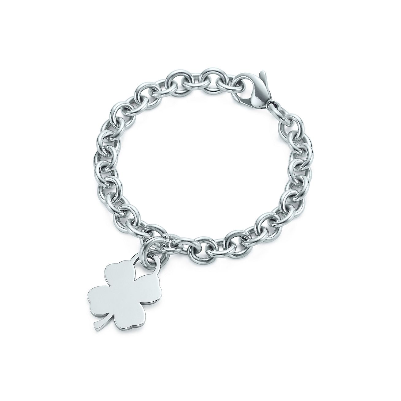 Fourleaf Clover Tag Charm And Bracelet In Sterling Silver  Tiffany & Co