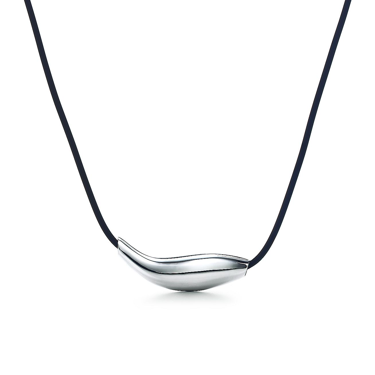 Frank Gehry Fish Necklace In Sterling Silver On A Rubber